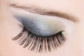 False Lashes Add to Evening Glam